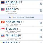 為替レート表示アプリ XE Currencyの紹介