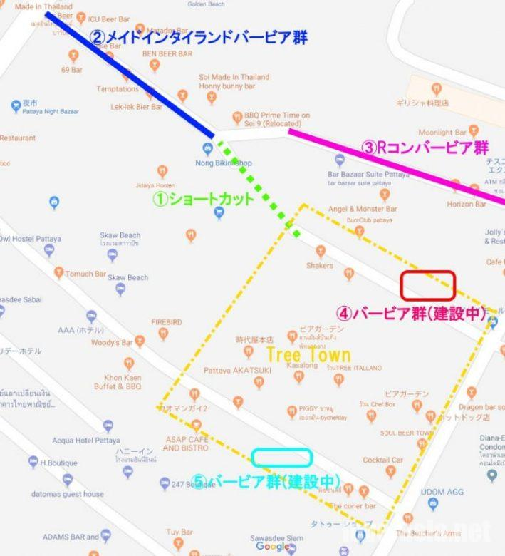 Tree Town地図
